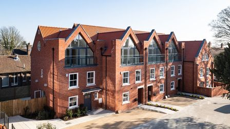 The show home (far left) at the Oak Tree Gardens development on Hatfield Road, St Albans. Picture: S