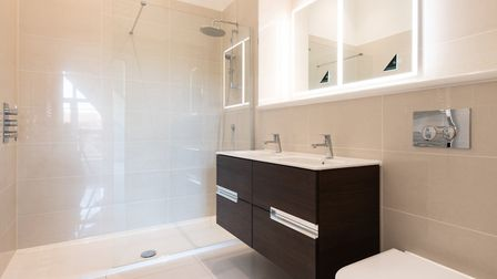 The bathrooms and en suites are fitted with Roca contemporary sanitaryware with Crosswater fittings.