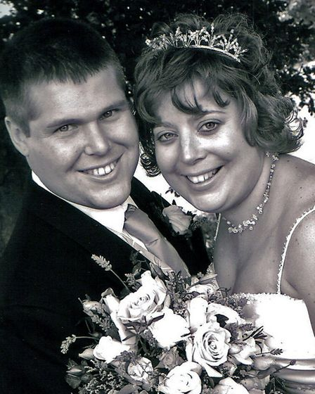 Darren and Kirsty on their wedding day. Picture: Submitted by Kirsty Higman