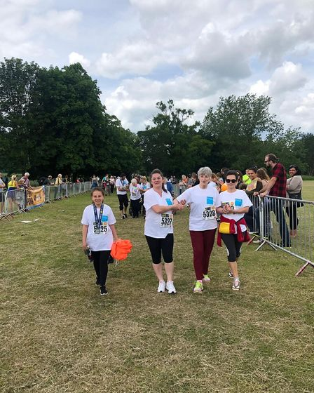 Elizabeth Barber once again walked the St Albans Half Marathon after suffering a stroke in 2016. Pic