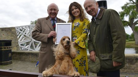 The PDSA Commendation was awarded to Crommie the spaniel in Godmanchester. Picture: ARCHANT