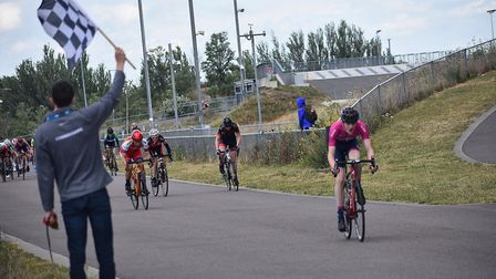 Verulam Reallymoving's Jamie Maxen takes the win at Lee Valley.