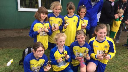 St Albans City Youth's U10 Girls North were runners up at the Knebworth tournament.