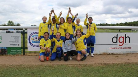St Albans City Youth's U11 Girls were runners up at the Shefford Saints tournament.