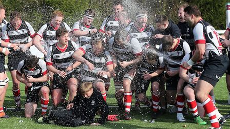 Harpenden were promoted after beating Romford & Gidea Park in a play-off. Picture: DAVID SIMPSON/TGS