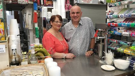 Tony Ellul and his mother Annette closed the doors to the Station Buffet in 2017. Picture: ARCHANT