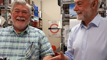 Martin, who has volunteered at the Oxfam Bookshop in St Albans for just over a year, and Ralph, who