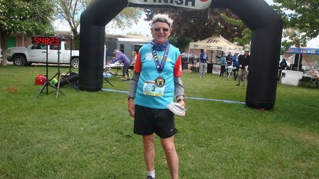 St Albans Striders' Jack Brooks at Bear Lake, USA, where he completed three marathons in three days