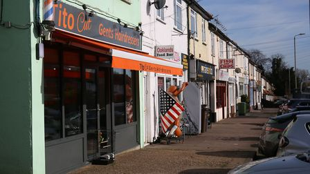 Oaklands' shops include a barber and an estate agent. Picture: Danny Loo
