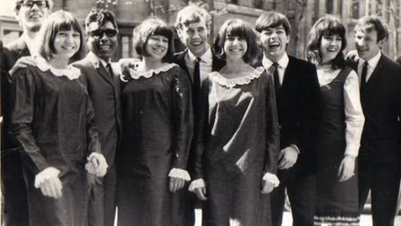 The Carolines with Tony Blackburn and New Seekers at Christian Aid Week. Picture: Submitted