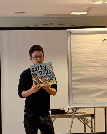 Author Matty Long attended the Book Jam event in St Ives