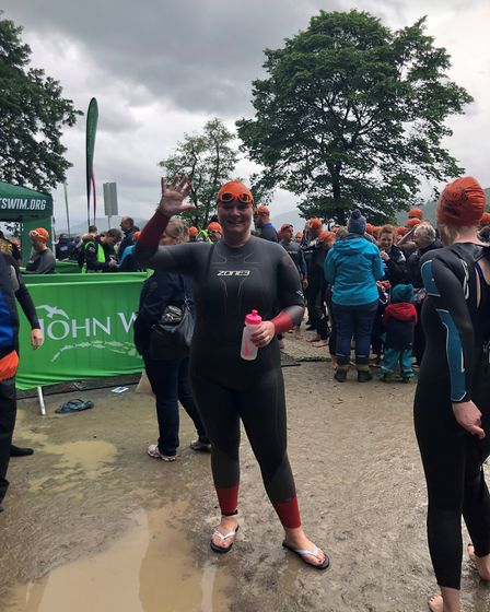 Hayley Bilantz raised £550 for Macmillan Cancer Support by tackling the Great North Swim. Picture: S
