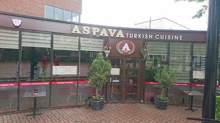 Aspava Turkish Cuisine in St Albans has been allowed to keep its illuminated signs. Picture: Anne Su
