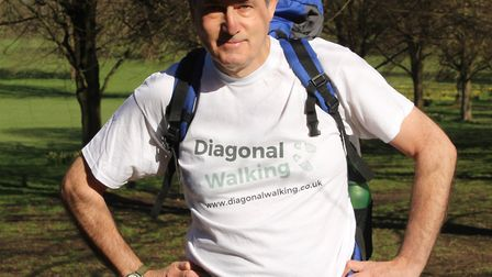 Former St Albans man Nick Corble walked diagonally across England for his travel book 'Diagonal Walk