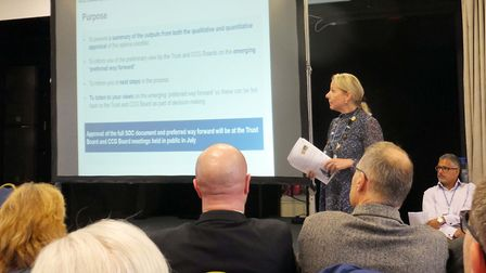 Kathryn Magson of the CCG at the West Herts Hospitals Trust and Herts Valleys Clinical Commissioning
