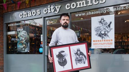 Monstrous: The Art of Luke Ridge will be open for one day at Chaos City Comics. Picture: Leo Cinicol