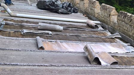 Lead was stolen from the roof of the Church of St Faith in Kelshall. Picture: Herts police