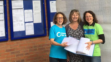 Amanda Yorwerth, St Albans Friends of the Earth, Gail Jackson, Sustainable St Albans, Catherine Ross