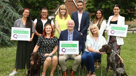 The Home Instead Senior Care St Albans team celebrated receiving an 'outstanding' report from the Ca