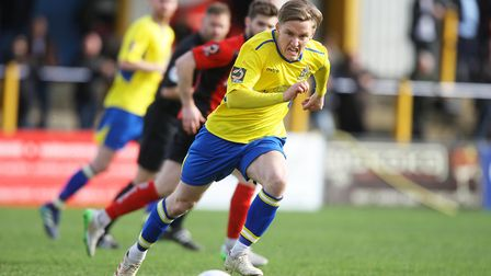 Player of the season Ben Wyatt has yet to re-sign for St Albans City. Picture: KARYN HADDON
