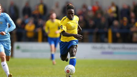 Solomon Sambou has yet to re-sign for St Albans City. Picture: DANNY LOO