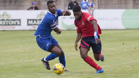 Former St Neots Town man Devante Stanley is another hoping to impress St Albans City on trial. Pictu
