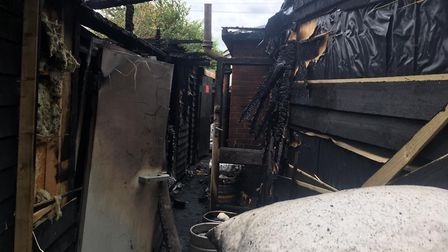 There was a blaze at The Plough Sleapshyde, on Sleapshyde Lane. Picture: Matt Adams