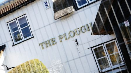There was a blaze at The Plough, Sleapshyde. Picture: DANNY LOO