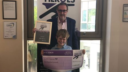 Ollie Higman-Hall won The Maltings Community Heroes award. Picture: Laura Bill