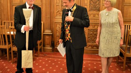 Martin Berry presented an award to departing president David Blundell in his honour, in the form of