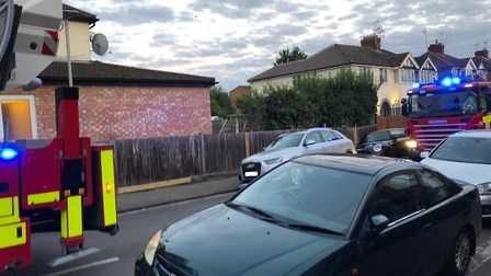 Five fire engines attended a major fire at The Camp Fish and Chips in St Albans. Picture: Laura Bill