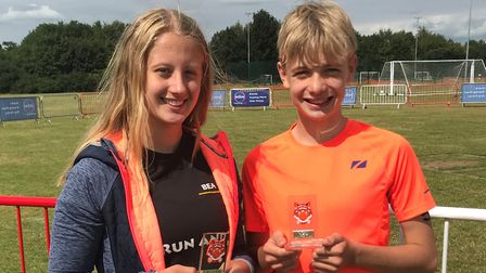 Beatrice Pauley and Dominic Pauley show off their medals. Picture: SUBMITTED