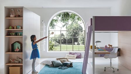 Camelot Soft children's loft bed, part of the new Nidi collection of Italian children's bedroom furn