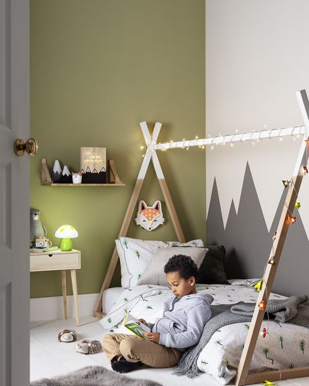 Camping: Lights4fun bring the outside in with this simple tepee design from their Woodland Children'