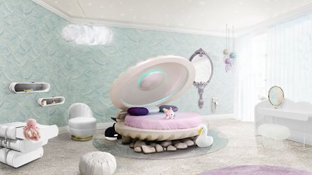 Swimming: this luxurious princess bed was inspired by Disney's Princess Ariel. £10,700. www.circu.ne