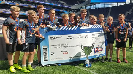 The Houghton Primary School pupils celebrate their tournament success. Picture: SUBMITTED