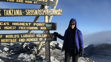 Stacey took on Mount Kilimanjaro to raise awareness of It's OK To Say and money for Cancer Research