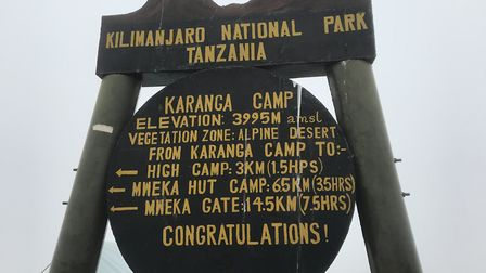 There are various camps on the way up Mount Kilimanjaro. Picture: Stacey Turner