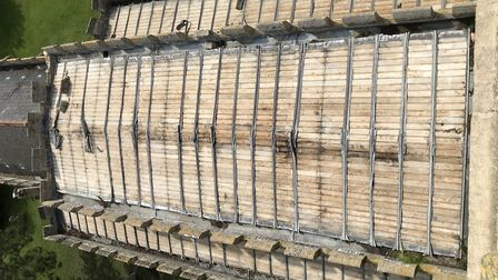 All the lead was stolen from the roof of the Whaddon church. Picture: St Mary's Whaddon