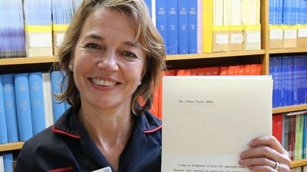 Claire Taylor of St Mark's Hospital has been awarded an MBE for services to nursing. Picture: London