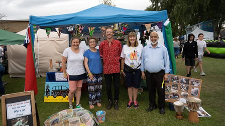 Remi Bumstead (centre), who will drive a school bus to The Gambia for St Albans charity Kadect, with