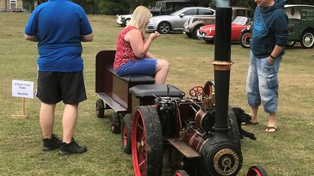 Steam engine rides at Whaddon fete. Picture: David Grech