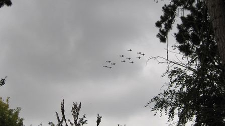 The Spitfire flypast could be seen from Whaddon fete. Picture: David Grech
