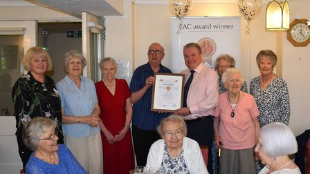 Owners at Davis Court in St Albans celebrate the EAC Award win with Millstream Area Manager Tony Rig