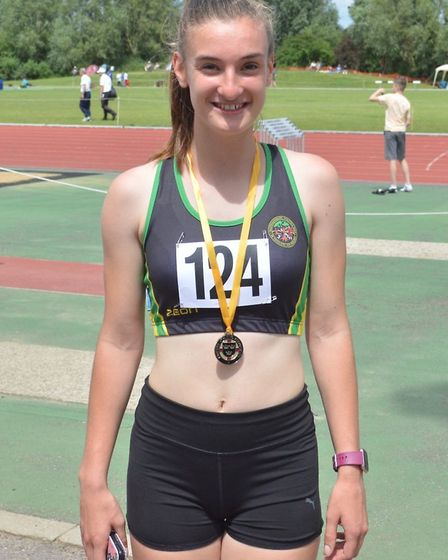 Hunts AC star Hannah Ridley struck gold at the Eastern Counties Championships. Picture: WAYNE DUBOSE