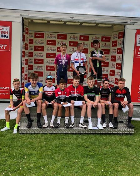 The top 11 in the U16 race at the 2019 National Championship with Verulam Reallymoving's Will Smith