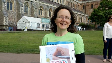 Catherine Ross, trustee of Sustainable St Albans, lead the petition to declare a state of climate em