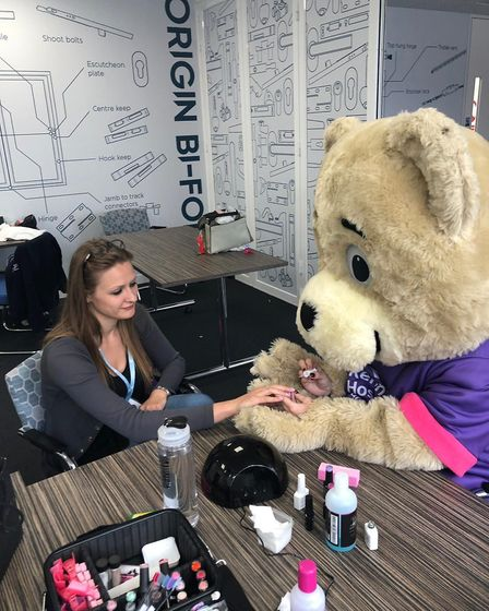 Fundraising included a nail bar at Origin's headquarters. Picture: Origin Global