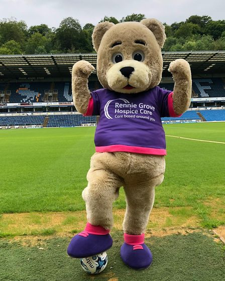 Wycombe Wonderers FC had a visit from the Rennie Grove Bear. Picture: Origin Global