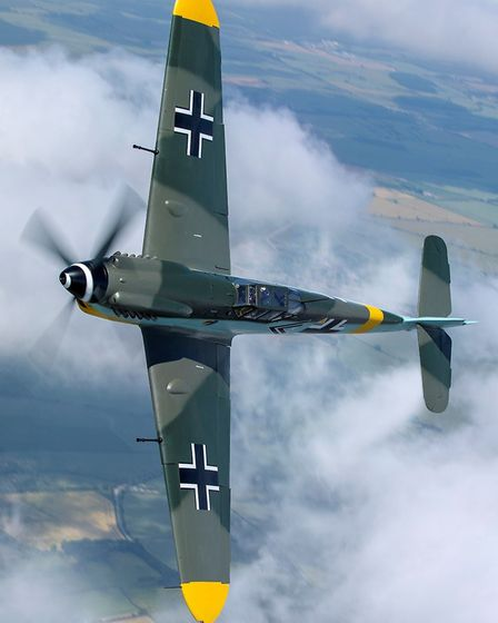 The Flying Legends air show at IWM Duxford will feature displays by the Hispano Buchon. The one pict